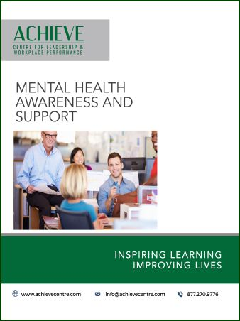 Image of Mental Health Awareness and Support manual cover