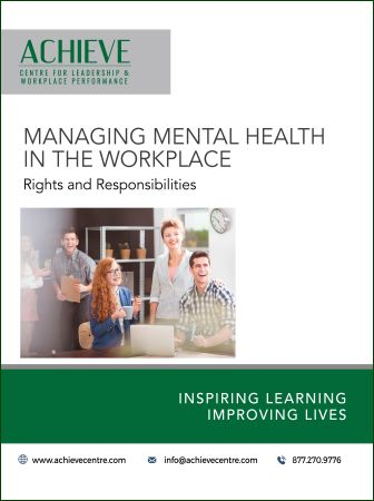 photo of Managing Mental Health in the workplace manual cover