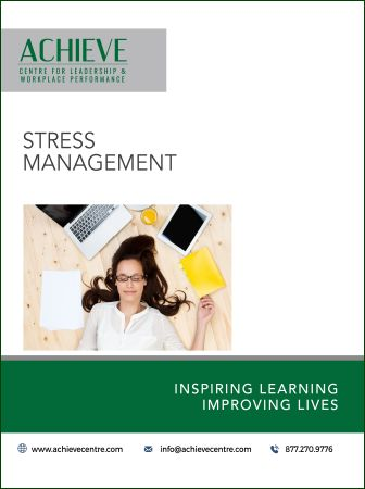 Image of Stress Management manual cover
